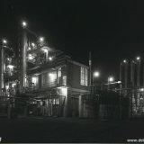 Nachtopname van de Cokesfabriek Emma te Beek