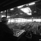 Losvloer met electrische bediening en pneumatische uitvoering in Schacht 4 op de Staatsmijn Hendrik