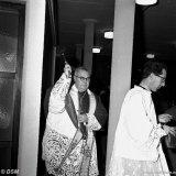 Inzegening van het kerkje tegenover het SBB door mgr. Moors, bisschop van Roermond
