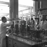 Interieur Laboratorium van de Cokesfabriek Emma