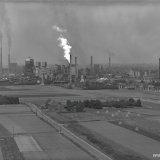 Overzicht van de Staatsmijn Maurits (links) en de Cokesfabriek Maurits (rechts)