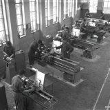 Werktuigkundige werkplaats van de Technische Vakschool (TVS) op de Staatsmijn Hendrik