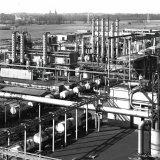 Overzicht van de Benzolfabriek op de Cokesfabriek Emma
