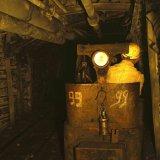 Locomotief machinist ondergronds Staatsmijn Emma