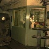 Diesellocomotief bij telefooncentrale ondergronds Staatsmijn Emma