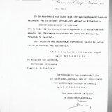 Reproductie van een brief over de naamgeving van de Staatsmijn Hendrik ui 1910