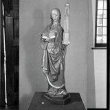 Sint Barbarabeeld in de kerk van Wijshagen