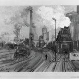 Schilderij De oude Cokesfabriek Emma van W. Paes