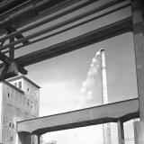 Nieuwe schoorsteen op het Stikstofbindingsbedrijf