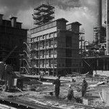 Vordering bouw Methaankraker 4 en 5 bij de Ammoniakfabriek 1 op het SBB