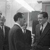 Bezoek Claus von Amsberg aan de Staatsmijn Emma