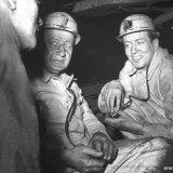 Bezoek Claus von Amsberg aan de Staatsmijn Emma ondergronds