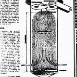 Schematische voorstelling van een priltoren van een Nitraatfabriek
