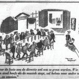 Cartoon over de Directie van de Staatsmijnen