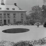 Kasteel Vaalsbroek in de sneeuw
