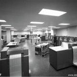 Computerzaal van het Computer Centrum Nederland (CCN) in Heerlen met de Univac III en de Univac 1108