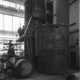 Het opstellen van een cycloon in de werkplaats van het Stikstofbindingsbedrijf