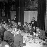 Het diner in het Grand Hotel te Heerlen ter afsluiting van de opening van Cokesbatterij D1 van de Cokesfabriek Maurits