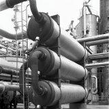 Potas warmtewisselaar in de Methaankraakinstallatie (MEKA) op het Stikstofbindingsbedrijf