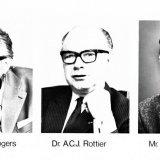 Hoofddirecteuren van DSM, de heren Rottier, Bogers en Van Liemt