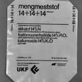 Zak voor de verpakking van mengmeststof met UKF embleem