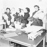 In de wachtkamer van het consultatiebureau voor zuigelingen