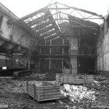 Eerste fase van de sloop van de bovengrondse gebouwen van de Staatsmijn Wilhelmina