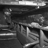Transporteur in schaafpijler ondergronds, Staatsmijn Hendrik