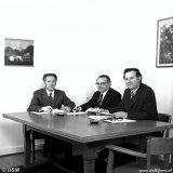Directie DSM Limburg BV. V.l.n.r.  Ir. Jordaans, Mr. Janssen en Ir. Schiffelers