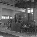 Hogedruk voorspanturbine en Turbogenerator 1 in de Hogedruk Centrale van de Staatsmijn Emma