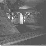 In de nieuwe Hogedruk Centrale op de Staatsmijn Emma wordt het vliegas uit de vliegasbunkers in ijzeren troggen met water vermengd, waarna het per wagon naar de steenstort wordt getransporteerd
