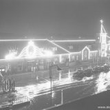 Het feestelijk verlichte Station van Heerlen