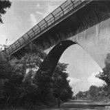 Mijnspoorbrug over de Rimburgerweg (Brunssum) bij de Staatsmijn  Hendrik