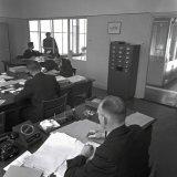 Het administratiekantoor van het Instituut voor Longonderzoek in Treebeek