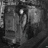 Diesel locomotief ondergronds op de Julia Mijn
