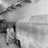 Ondergrondse locomotievenloods op de Staatsmijn Emma