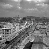 Overzicht vanaf de kolentoren Cokesfabriek Emma 2 te Beek
