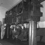 Locomotief loods (onderhoud diesellocomotief) - 700 meter verdieping Staatsmijn Emma