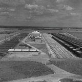 De cuvelagewerkplaats van de firma Gusto op de Staatsmijn Beatrix