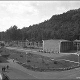 Gebouw van de Ondergrondse Vakschool (OVS) van de Staatsmijn Wilhelmina