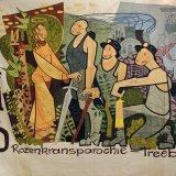 Vlag Nederlandse Katholieke Mijnwerkersbond, afdeling Rozenkransparochie-Treebeek