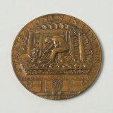 Jubileumpenning in brons, voorzijde 1927
