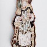 Tegelplastiek Sint Barbara, voorzijde
