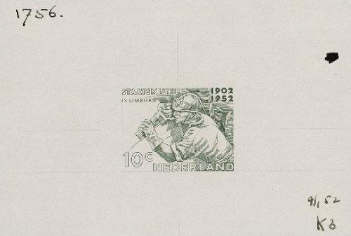 Mijnwerker op de postzegel