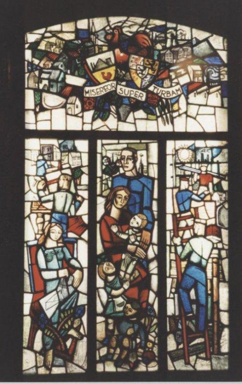 Glas-in-loodraam 'Ons Limburg' van Jérôme Goffin