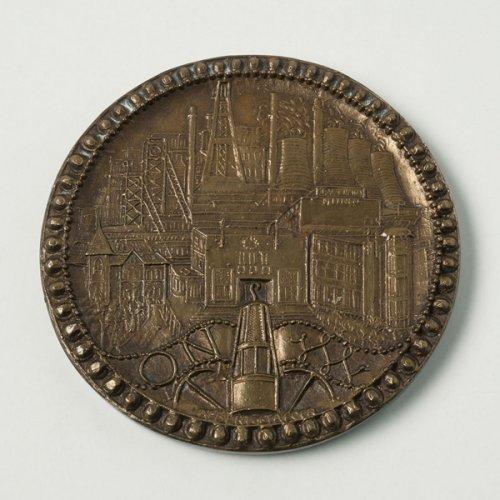 Albert de Jaeger, Gedenkpenning Oranje-Nassau mijnen (1958)