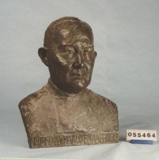Buste Hoofdmijnarts A.H. Vossenaar, Marianne Hellwig-Blaauw, brons (1939)