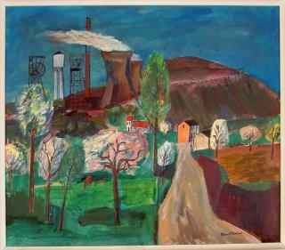Daan Wildschut, Landschap met kolenmijn omstreeks 1962