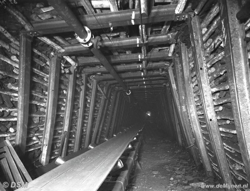 Dsm Keukens Geschiedenis : Mijngang met transportband ondergronds DE MIJNEN