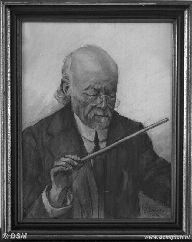 Schilderij van onderwijzer l j crijns de eerste dirigent van het muziekkorps van de staatsmijn - Foto van slaapkamer schilderij ...